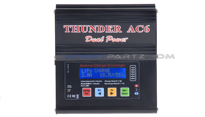 Thunder Ac6 Smart Balance Lipo Nimh Charger Discharger W
