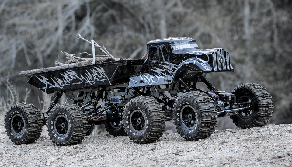large scale rc semi trucks for sale with 03c25 Mt 8x8 Black Rtr 24g on 110ScaleRTRRCElectricDumpTruckREFURB furthermore 03c25 Mt 8x8 Black Rtr 24g also Lil Big Rig also Toy Trucks And Trailers also Watch.