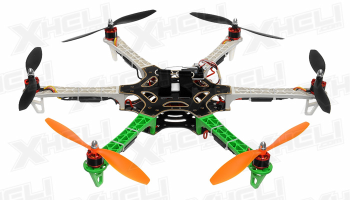 AeroSky 550 RC 6 Channel Hexacopter Almost Ready to Fly (Green)