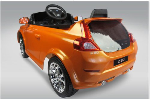 volvo c30 6v electric childrens battery powered under licensed ride on car with orange rc remote control radio car