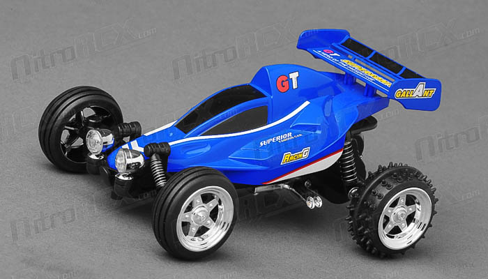 Great Wall Toys 1:43 Scale Sprint 2.4ghz Radio Control  Car (Blue)