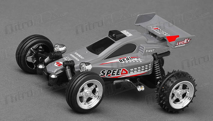 Great Wall Toys 1:43 Scale Sprint 2.4ghz Radio Control  Car (Grey)