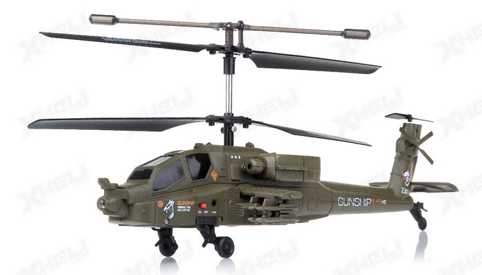 New 2.4Ghz 3 Channel UDI U10 Gunship Apache RC Helicopter