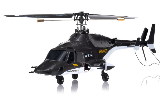 NEW Exceed RC 4 Channel MadHawk 300 RC Helicopter w/ 2.4 GHz 2402D Devo Transmitter (Black)
