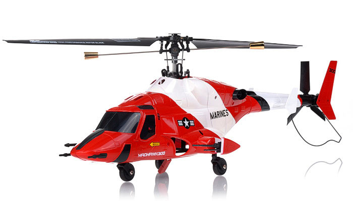 NEW Exceed RC 4 Channel MadHawk 300 RC Helicopter w/ 2.4 GHz 2402D Devo Transmitter (Red)