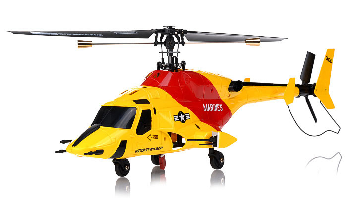 NEW Exceed RC 4 Channel MadHawk 300 RC Helicopter w/ 2.4 GHz 2402D Devo Transmitter (Yellow)