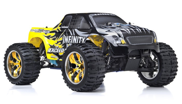 1 10 scale gas rc trucks with 51c08 Infinitive Savayellow 24ghz on 11022181 Traxxas Rtr 1 8 Nrha Funny Car Race Replica 4 as well Ma1015 Madbeast Blackblue Reverse Artr together with 1506668912 moreover Rc 4x4 Truck further Gas Powered Rc Car Kyosho Vone Rrr Shimo.
