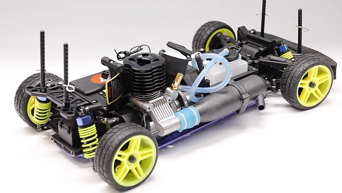 Fire Blue Lamborghini 2-Speed Led Nitro Gas Powered Race