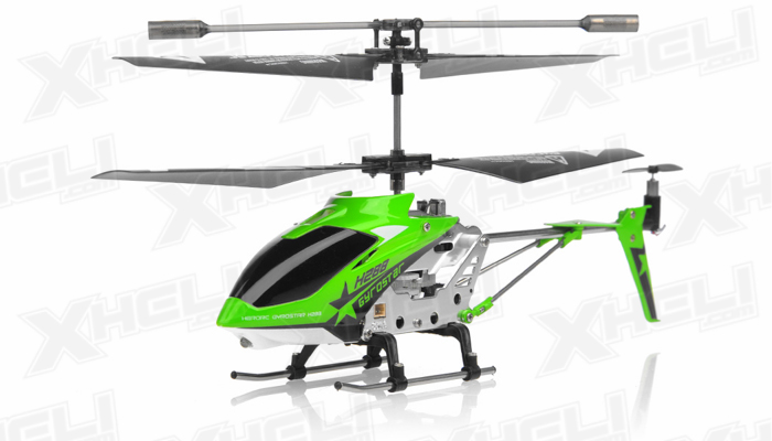 Hero RC H288 Gyro Star RC Remote Control 3 channel Metal Micro Helicopter Genuine and Manufactured by Syma S107/S107G OEM w/ bonus blades, balance bar, connect buckle, tail blade & tail decoration(Green)