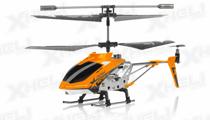 Hero RC H288 Gyro Star RC Remote Control 3 channel Metal Micro Helicopter Genuine and Manufactured by Syma S107/S107G OEM w/ bonus blades, balance bar, connect buckle, tail blade & tail decoration(Orange)