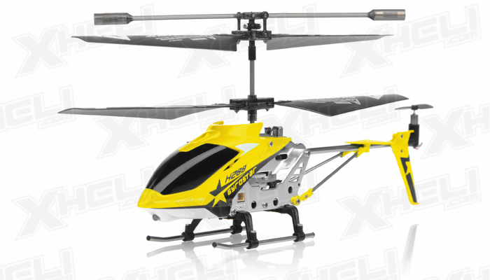 Hero RC H288 Gyro Star RC Remote Control 3 channel Metal Micro Helicopter Genuine and Manufactured by Syma S107/S107G OEM w/ bonus blades, balance bar, connect buckle, tail blade & tail decoration (Yellow)