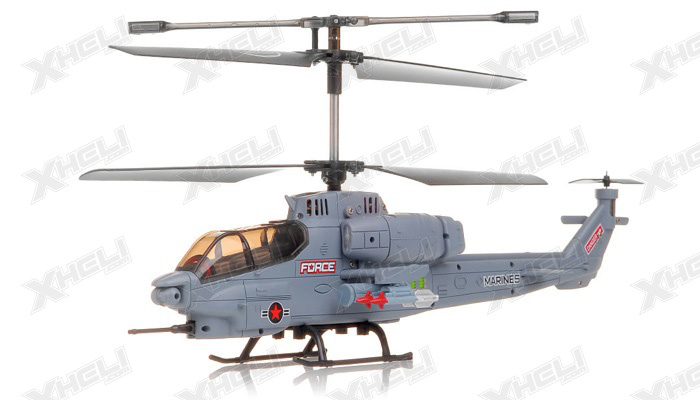 New SYMA S036G Gunship 3 Channel RC Helicopter (Grey)