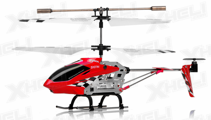 Syma S107N 3 Channel Mini Indoor Co-Axial Metal RC Helicopter w/ Built in Gyroscope