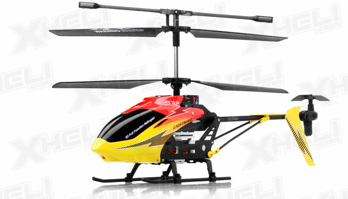 Syma S32 Lightning RC 3 Channel Helicopter 2.4Ghz (Red)