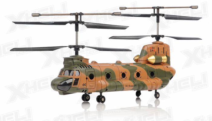 Syma S34 3 Channel Chinook RC Helicopter 2.4ghz (Camo)