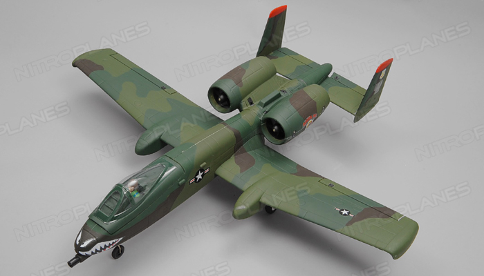 Dynam A-10 Thunderbolt II Twin 64mm EDF Jet with Retracts RC 5 Channel  Almost Ready to Fly 1080mm Wingspan (Green)