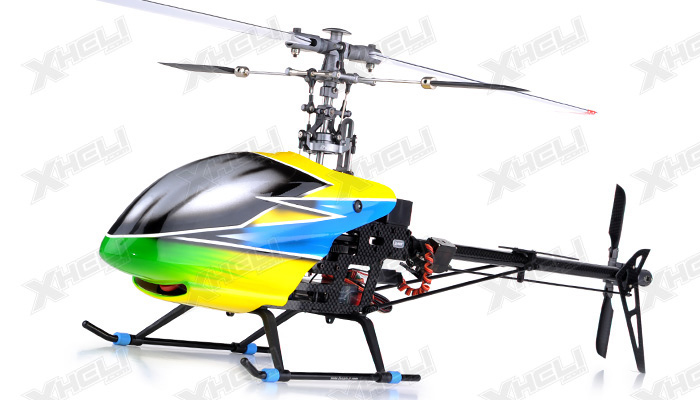 Dynam 6-Ch  Carbon Fiber E-Razor 450-3D Metal RC Helicopter ARF Brushless Motor+ESC