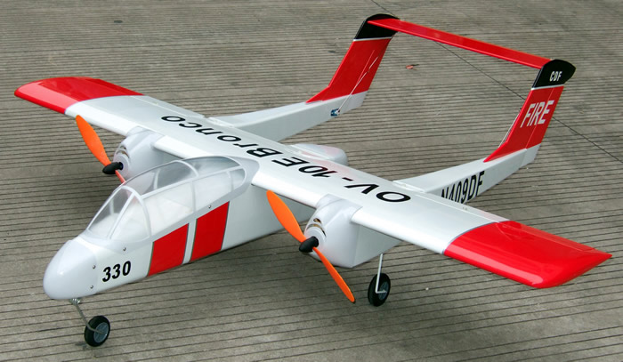 Electric brushless nitro gas ov 10 bronco 15 48 twin for Model airplane motors electric