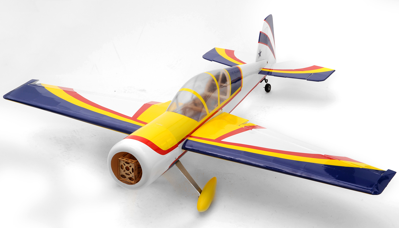 Yak 54 3d fuel electric 25 45 5 radio remote controlled acrobatic rc plane kit yellow rc remote control radio