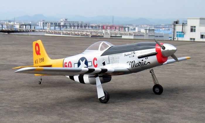 Nitromodels P 51 Mustang 60 Nitro Gas Radio Controlled War