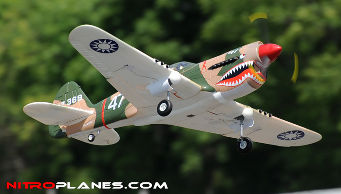 2.4G Extreme Detail 5-Channel AirField RC P-40 WarHawk ...