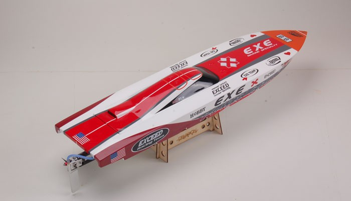 Exceed Racing Electric Powered Fiberglass Dee V 720mm RC Boat Kit Version (Kit)