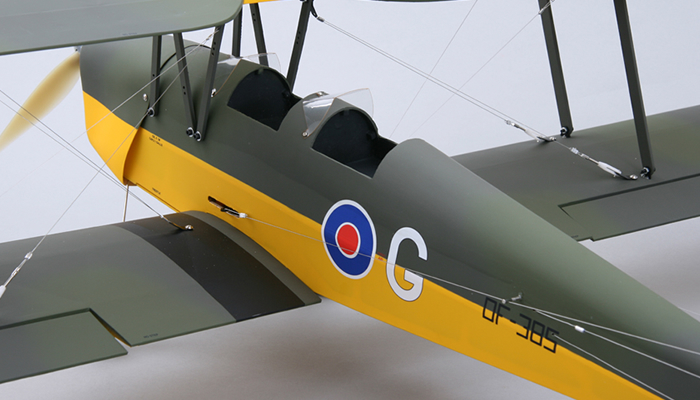 5 Channel Cmp Tiger Moth 1250mm Rc Bi Plane Arf W Motor