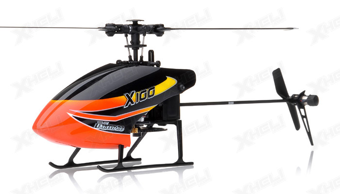 New 6 channel 2.4 GHz Exceed RC XH100 Micro 3D RC Helicopter RTF w/ 6CH 2.4Ghz DEVO-7 Transmitter + Gyro + Servos