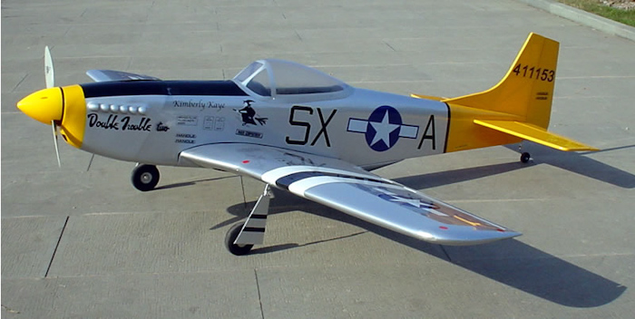 """Double Trouble Two P-51D Mustang 60 - 66"""" Nitro Gas Radio ...  Double Trouble ..."""