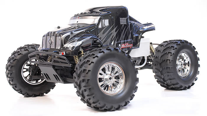 1 8 th scale 2 4ghz exceed rc monster truck madbeast nitro gas rtr version black silver rc. Black Bedroom Furniture Sets. Home Design Ideas