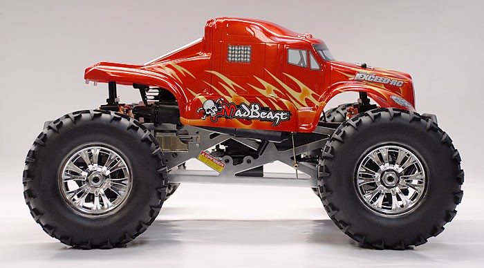 1 8th exceed rc mad beast nitro powered monster truck almost ready to run artr red rc remote. Black Bedroom Furniture Sets. Home Design Ideas