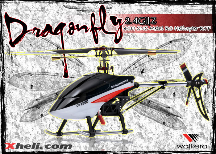 NEW Walkera 4 Channel DragonFly CB180D RC Helicopter w/ 2.4 GHz 2402D Devo Transmitter RTF